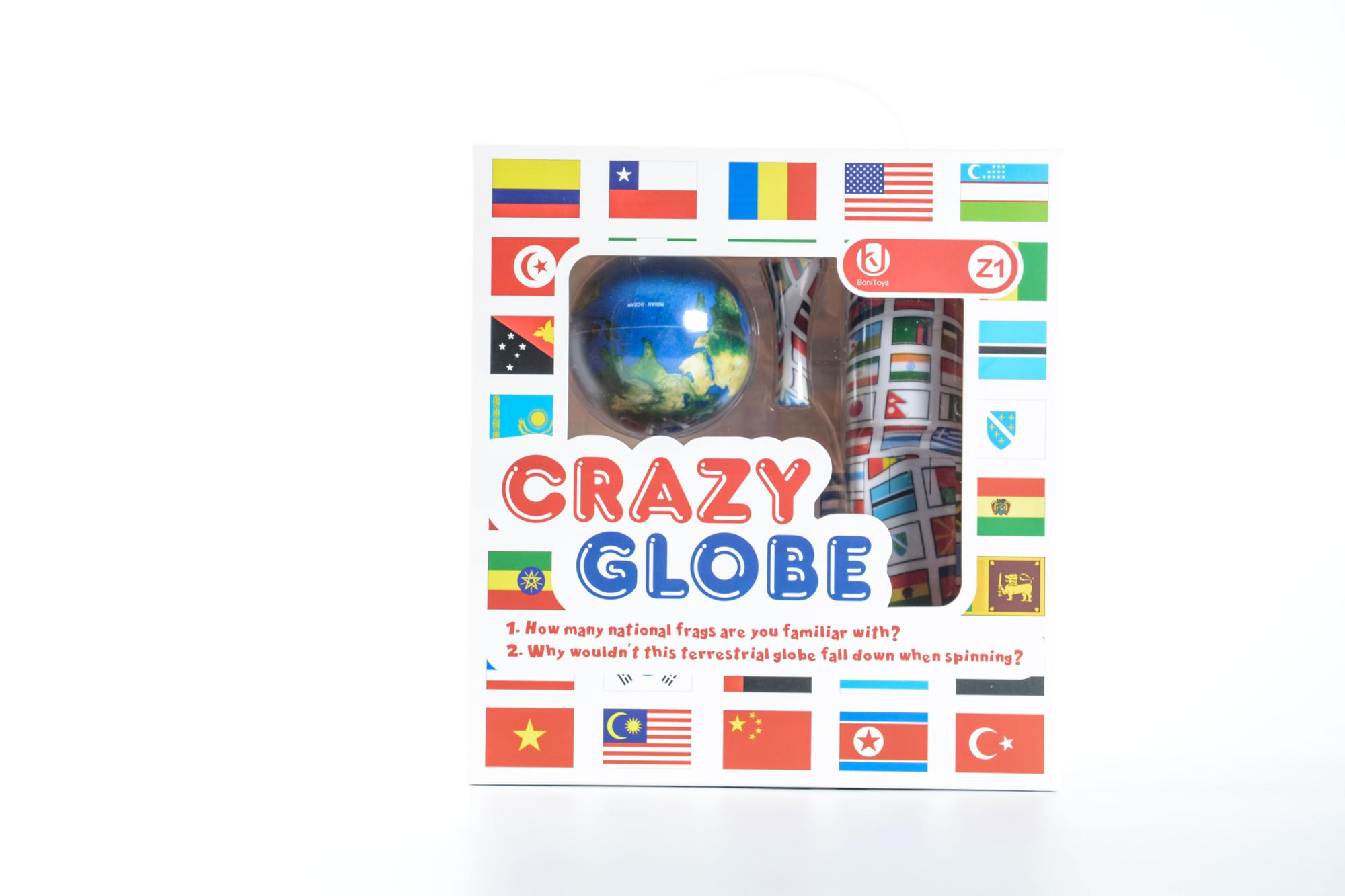 2018 Bonitoys New Product Crazy Globe brain game toys for kids with all world flags