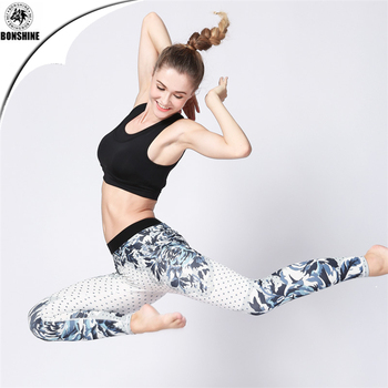 New elastic tight-fitting yoga leggings women's printing dance sports yoga pants