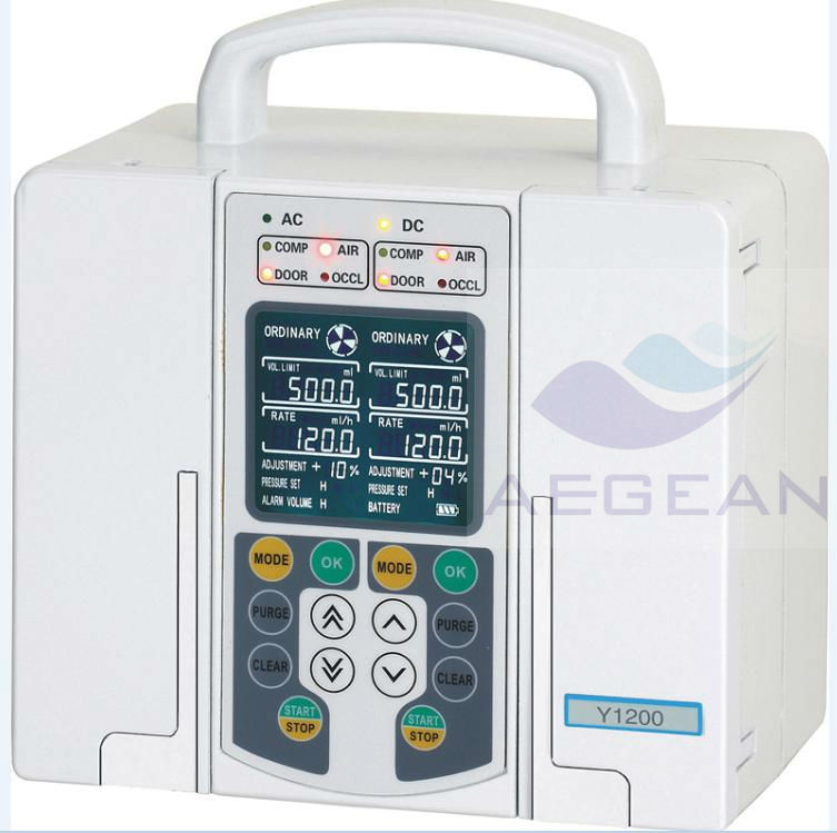 AG-XB-Y1200 high-tech low battery double channel portable nursing infusion pump