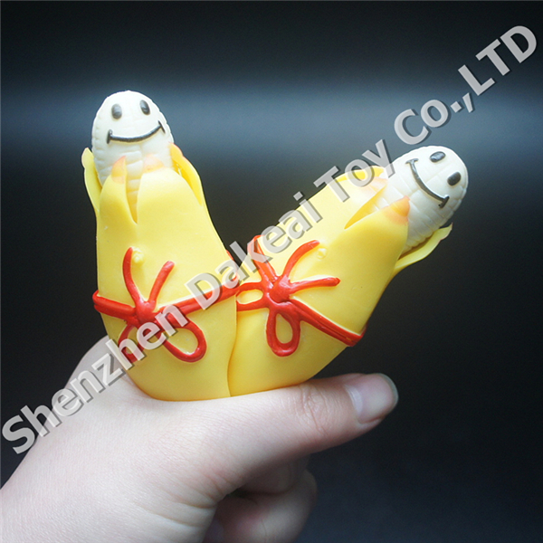 Kawaii scented rubber squeeze stretch banana squishy toys with keychain