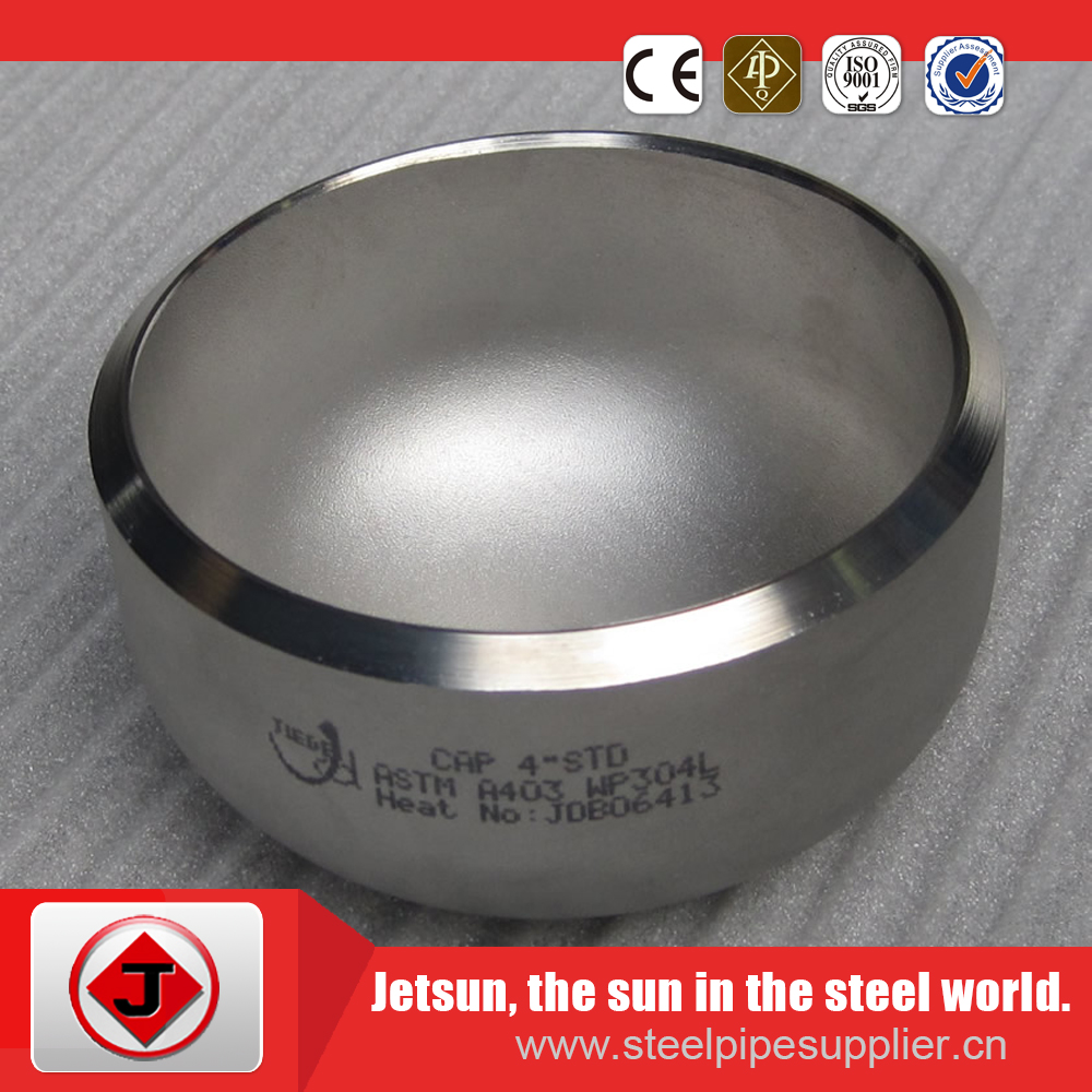 cap butt weld cap carbon steel cap pipe fitting for oil and gas industry