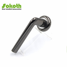 BN finish black nickle color round aluminum door handles
