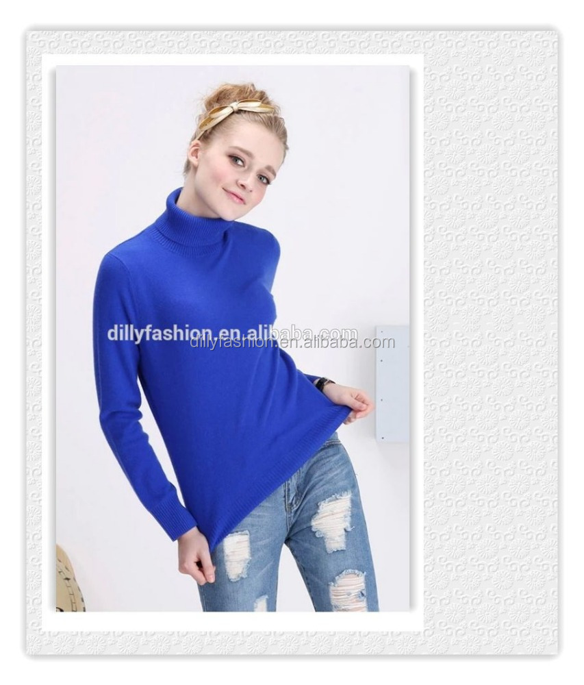 fashion high neck designs for ladies suit cashmere sweater