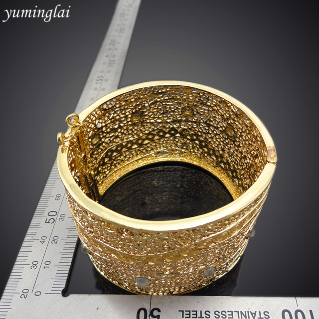 Latest Design CZ Copper Fashion Bangle European and American punk style Fashion Jewelry Bracelet GHK938
