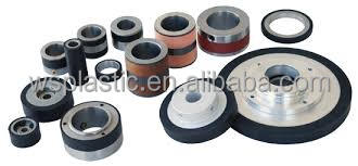 Customized rubber coated wheel at low price