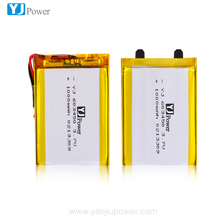 Long Cycle Life 603450 1000mAh 3.7V Lithium Ion Polymer Battery with pcm and wire