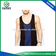 2016 latest design color combination mens casual tank top