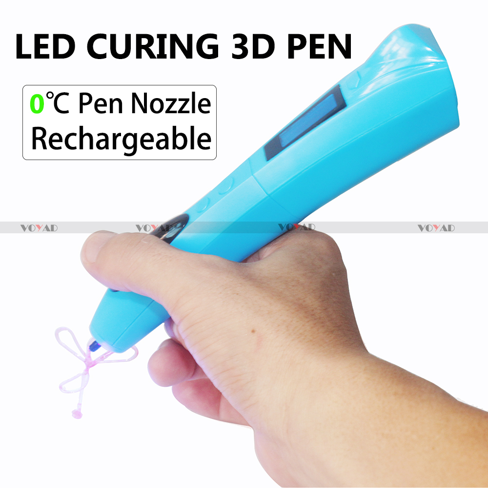 2017 LED cure magic photocuring OLED 3D Priniting pen zero temperature without power cord