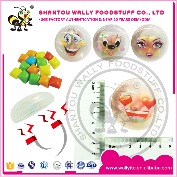 Smile Magnet Box With Bubble Gum