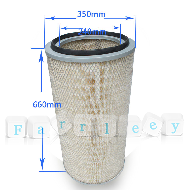 Farrleey Polyester/Cellulose or Blended Material Pulse Pleated Air Filter