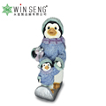 Christmas Outdoor Resin Penguins Figurine Decor