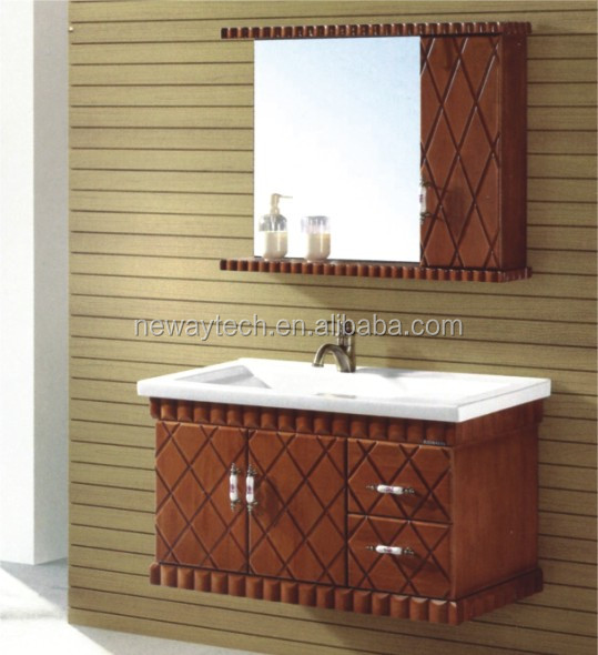 Wall mounted small wood unfinished bathroom vanities and cabinets