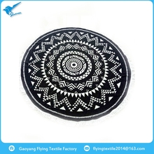 Cheap wholesale high quality jacquard round beach towel with low price
