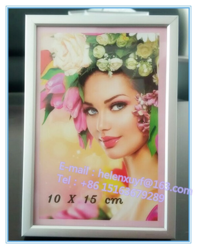 Aluminum Metal Type and Metal Material 4x6 Silver Aluminium photo picture frame