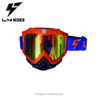 Orange Frame REVO Lens Motocross Goggle