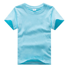 High Quality Girls Boys T Shirts Solid Color Children Clothes Kids Short Sleeve Brand Shirts Boy Tops Tees