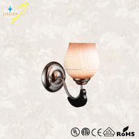 GZW20600-1W popular and modern glass wooden night wall lamp/light
