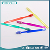 Translucent colorful PS toothbrush for hotel use