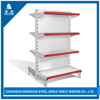 Light Duty convenience store shelf with iron stand