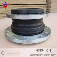 PN10 PN16 Rubber Expansion Bellows With Flange Connection