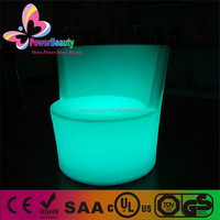lighting led 3d color seat livingroom decoration hard plastic led glowing sofa
