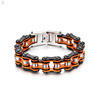 Heavy Motorcycle Bicycle Chain Bracelet, 316L Stainless Steel Bike Motorcycle Chain Bracelet