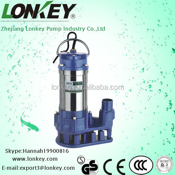 stainless steel sewage water pump,submersible pump.dirty water pump