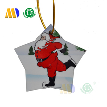 Mida China Wholesale Decorative Sublimation MDF wooden Christmas Hanging Decoration Christmas Ornaments for Christmas Party