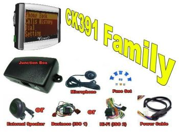 CK391 BLUETOOTH HANDSFREE CAR KIT WITH LARGE LCD (CONTROLS ON THE SIDE OF THE LCD)