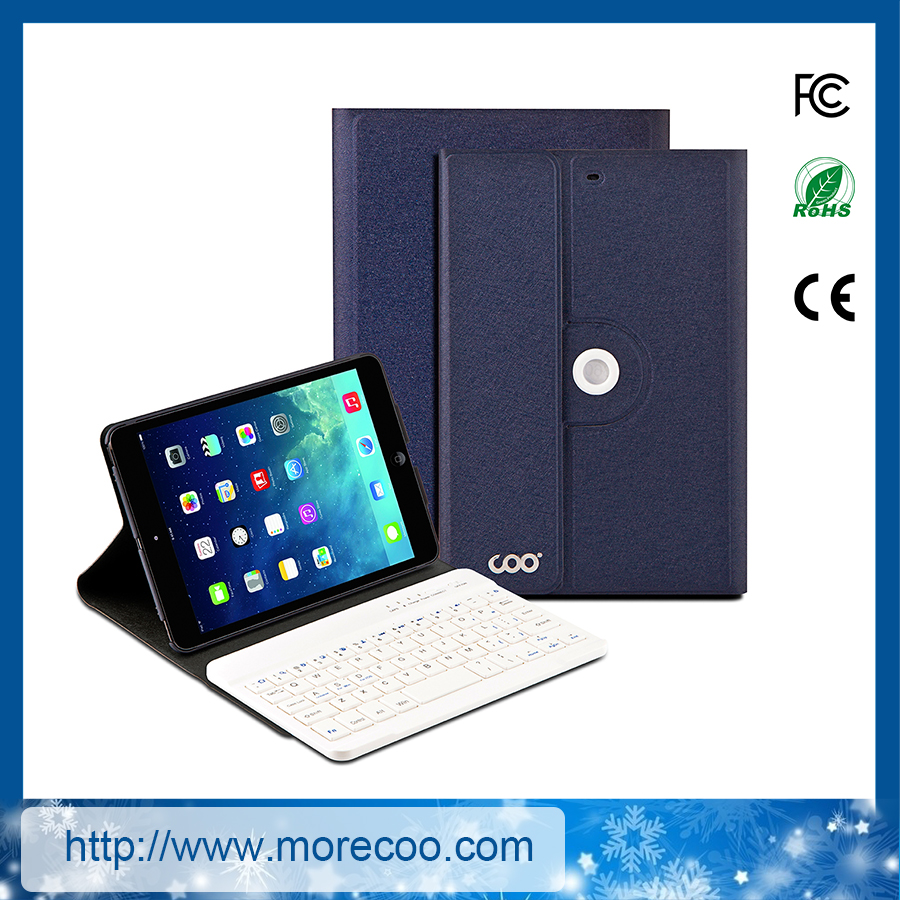 luxury ultra-thin leather bluetooth keyboard case for ipad mini 1 2 3
