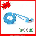 1M USB to USB Micro Flat Charging Cable Blue (Blue)