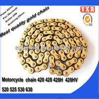 hot sale chain and sprocket motorcycle,chain sprocket ax100 motorcycle chain ,transmission kit american standard roller chain