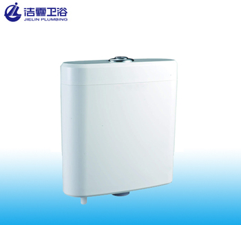 New fashion T6004 plastic cistern two flush toilet water tank