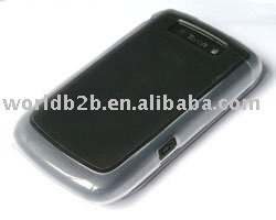 Blue Rubber Hard case for blackberry 9800