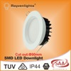 CE & SAA Approve SMD Indoor Lighting 12W recessed led downlight with cut out 90mm, led down light with light 120degree