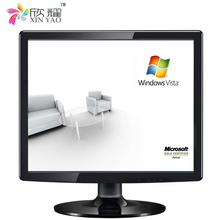 17 17.3 inch advertising bus 2k monitor super thin used lcd square monitor price with HD/VGA /BNC/AV