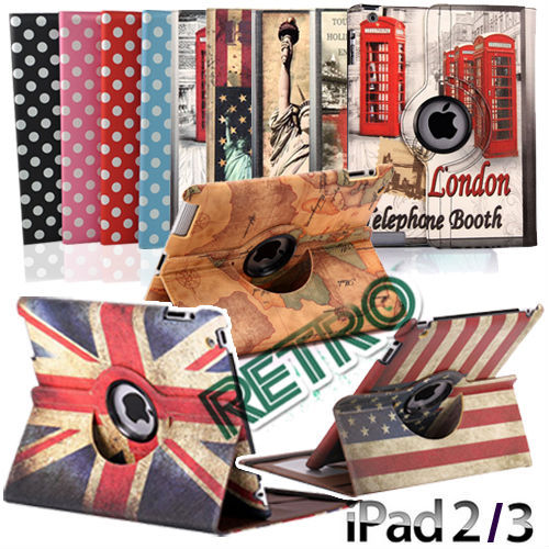 UK flag USA flag for IPAD 360 CASE FOR IPAD 2 IPAD 3 AND IPAD 4 RETINA