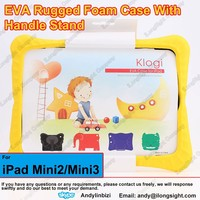 Child-Safe EVA Foam Built-in Handle and Viewing Stand for iPad Mini/Mini 2/Mini 3,EVA Drop Proof Case with Handles for Baby