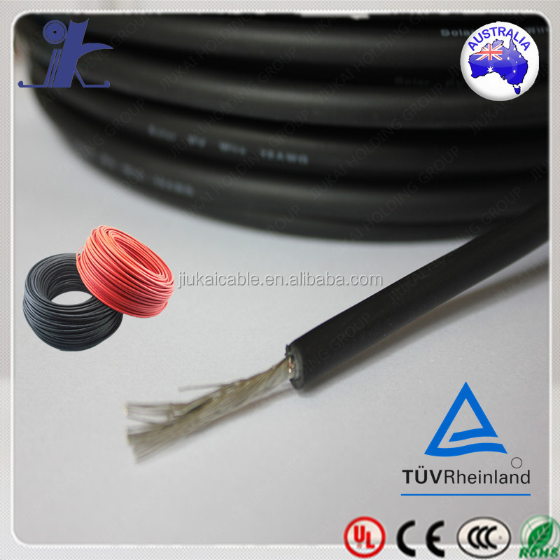 Jiukai tuv 2pfg 1169/08.2007 pv1-f tinned copper xlpe dc pv solar cable for photovoltaic modules and battery systems-C