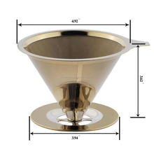 on shopping FDA certification Titanium Coated, Gold Pour Over Cone Dripper