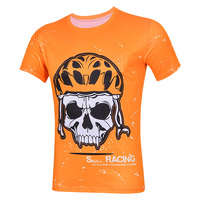 orange short sleeves jerseys 100%polyester fabric Sport t shirt for men new desing and fashion short sleeves