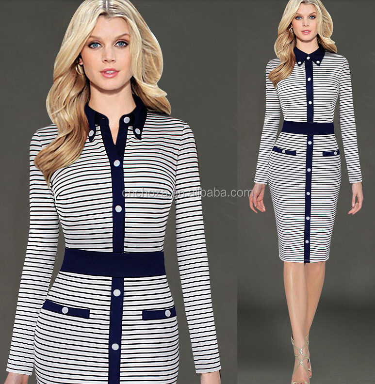 Z60739Y Office Ladies Fashion Suit Dresses Women Elegant Dresses