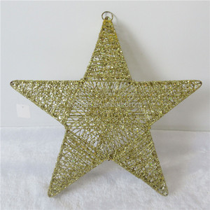 Metal Glitter Christmas five-pointed star for decoration