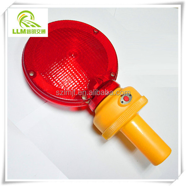 Amber PE material strobe portable solar hazard warning light