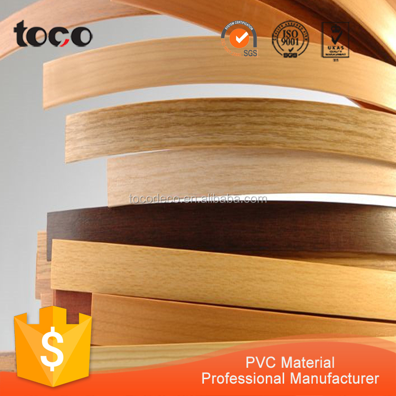 Plastic edge trim wood table pvc edge trim for mdf