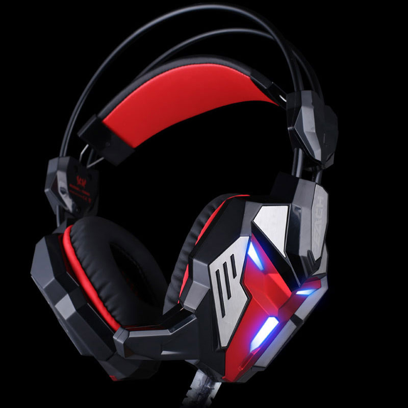 KOTION EACH G3100 Vibration Function Pro Gaming Headphone Games Headset with Mic Stereo Bass LED Light for PC Gamer