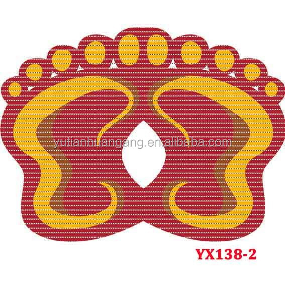 figurated foot pattern plastic bathroom anti-slip mats