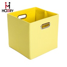 Home Organizer Fabric Foldable Storage Bins Multipurpose Yellow File Storage Boxes