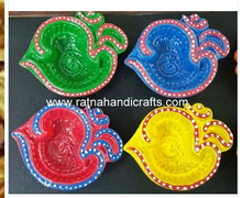Diya in Om Design Clay Lamp Indian Diwali Decoration Home Decor