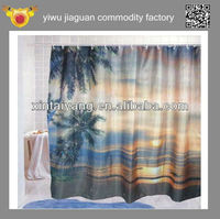Subtropics Design Shower Polyester Sheer Fabric for Curtain